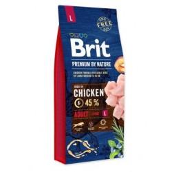 Hrana uscata pentru caini Brit Premium, Adult L, 15 Kg